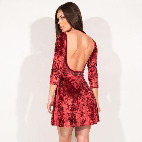 Vestido_Girly_Velvet_Red_Labellamafia