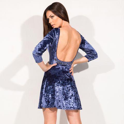 Vestido_Girly_Velvet_Blue_Labellamafia