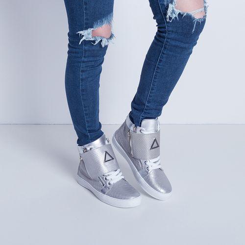 Sneaker-Boot-Zipper-Silver-Labellamafia