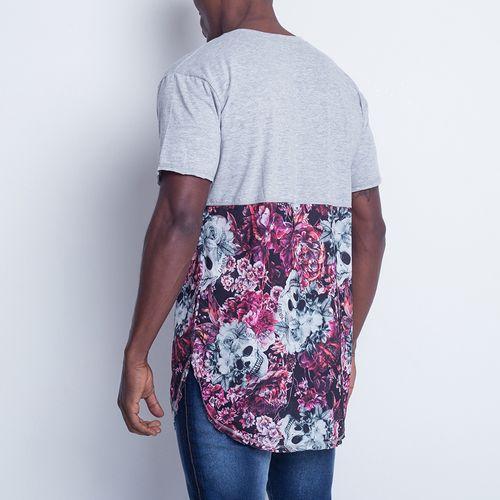 Camiseta-Skull-Flower-La-Mafia
