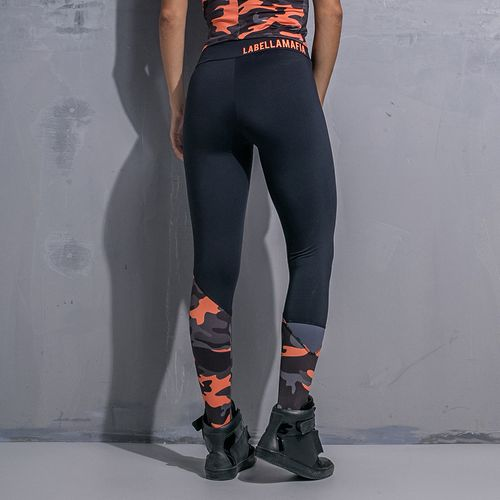 Legging-Orange-Camouflage-Labellamafia