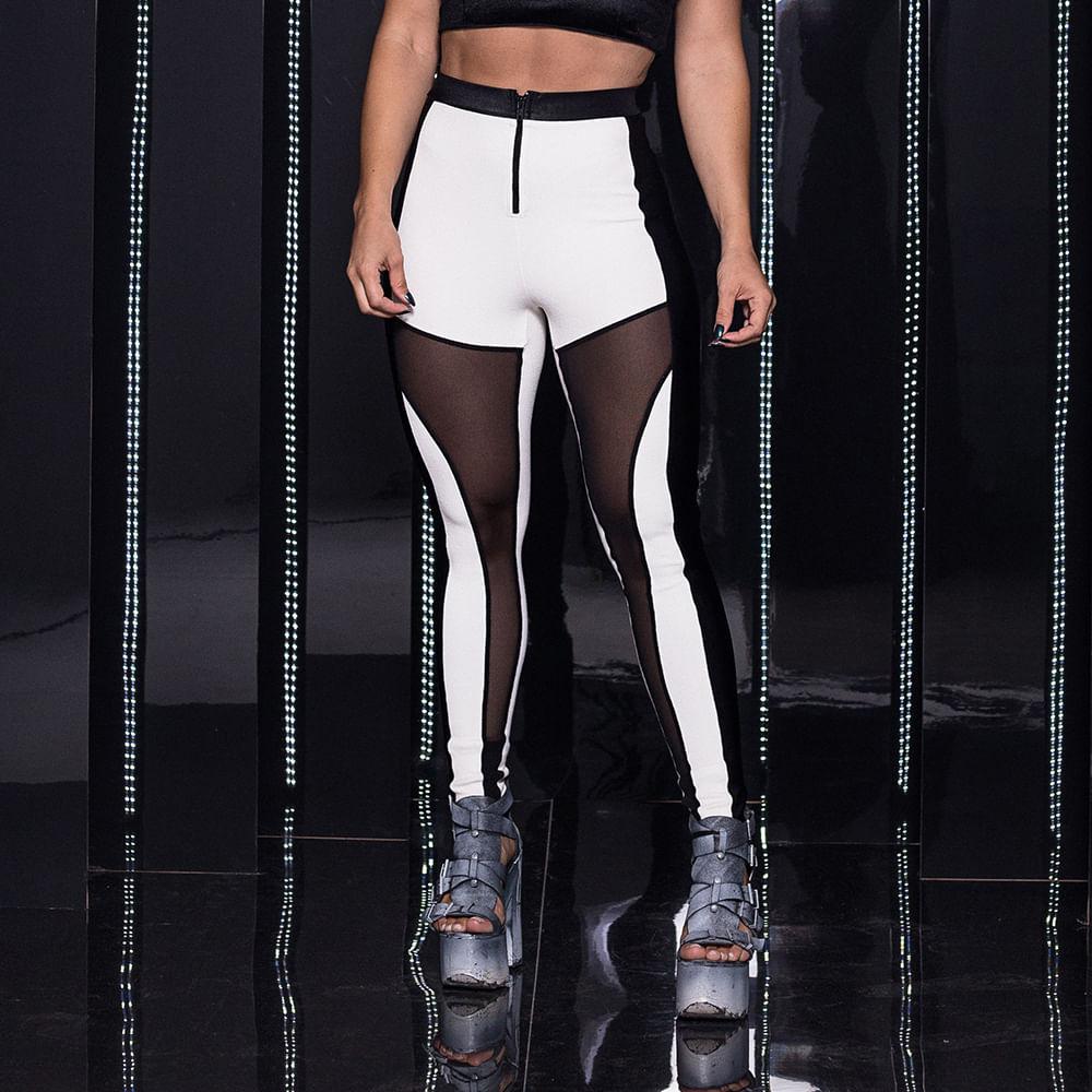 Legging-Rive-Gauche-Black-and-White-Labellamafia