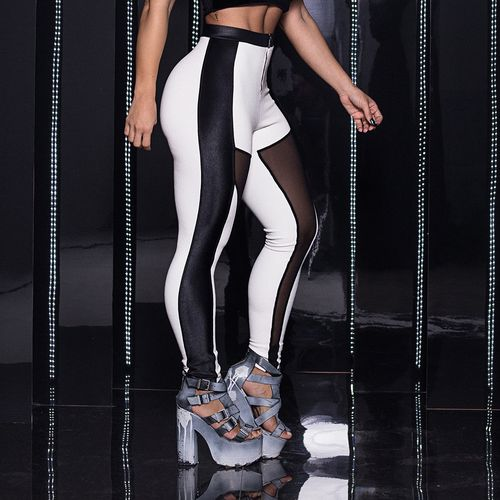 Legging-Rive-Gauche-Black-and-White-Labellamafia
