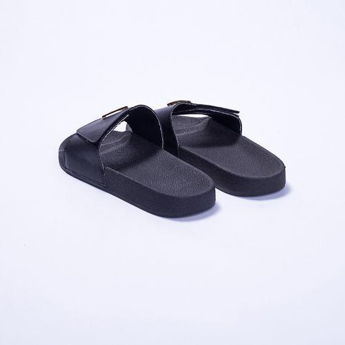 Chinelo-Slide-Black-Triangle-Labellamafia