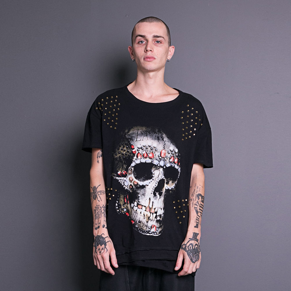Camiseta-Skull-Diamonds-La-Mafia