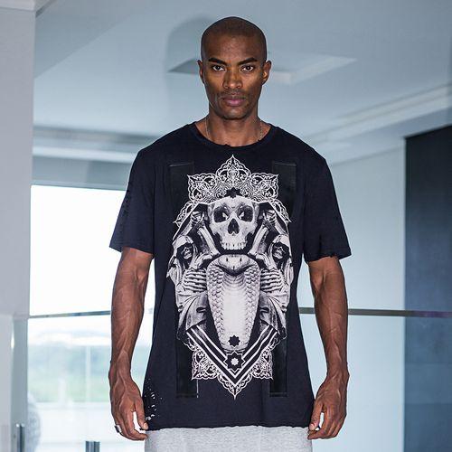 Camiseta-Black-Skull-La-Mafia