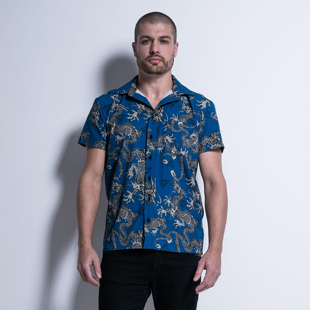Camisa-Resort-Dragons-La-Mafia