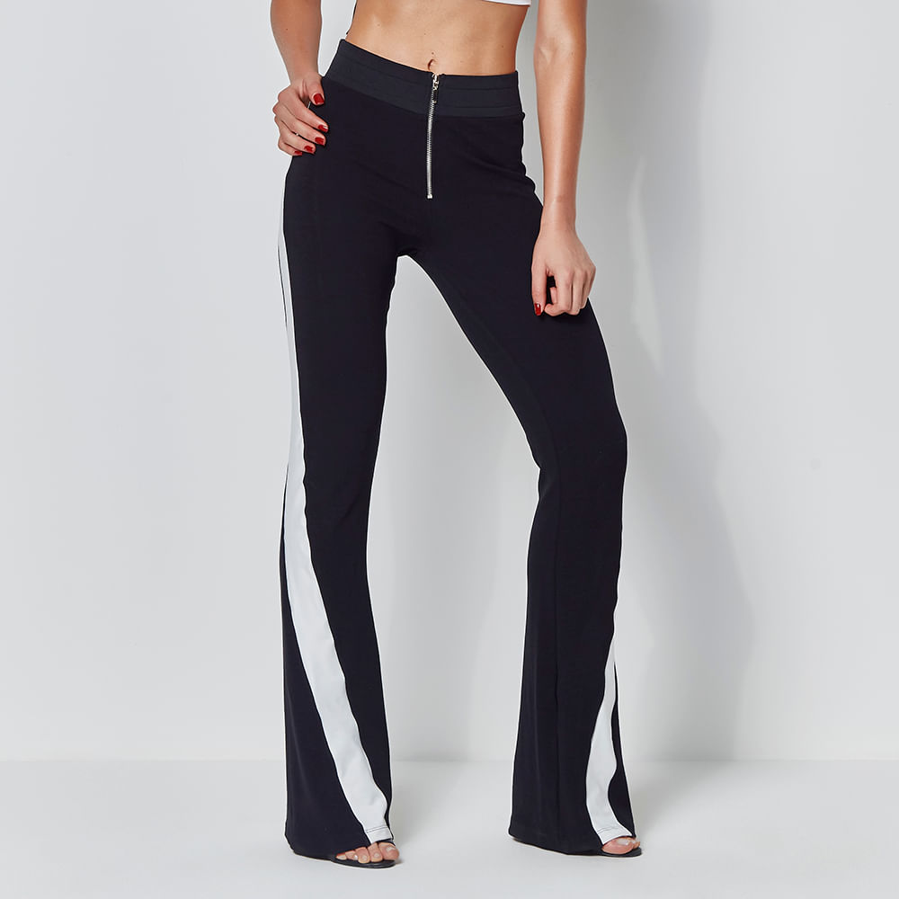 Track-Pants-Labellamafia-Flare-Black-