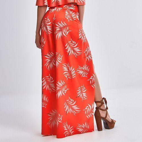 Calca-Pantalona-Orange-Flowers