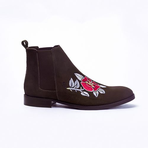 Chelsea-Boots-Brown-Roses