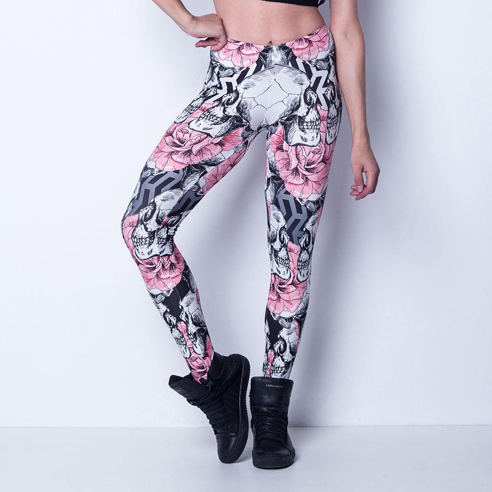 Legging-Skulls-and-Roses-Labellamafia
