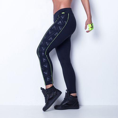 Legging-Black-and-Green-Triangle-Labellamafia