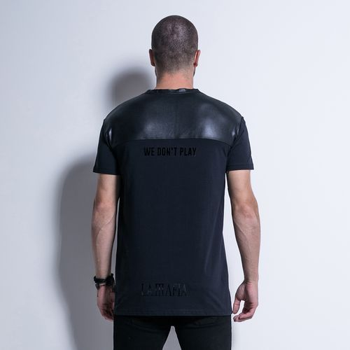 Camiseta-Textures-All-Black-La-Mafia