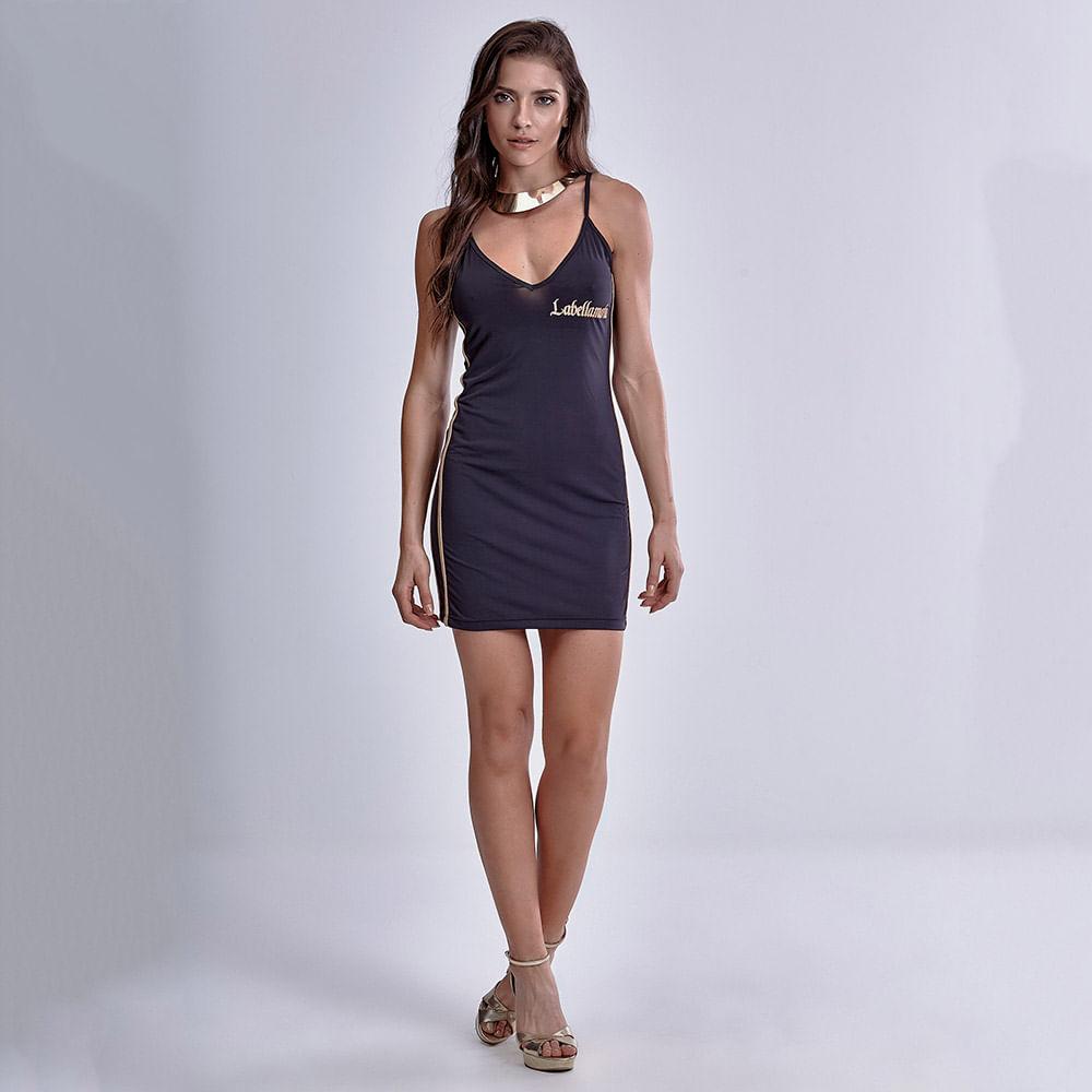 Vestido-Golden-Black
