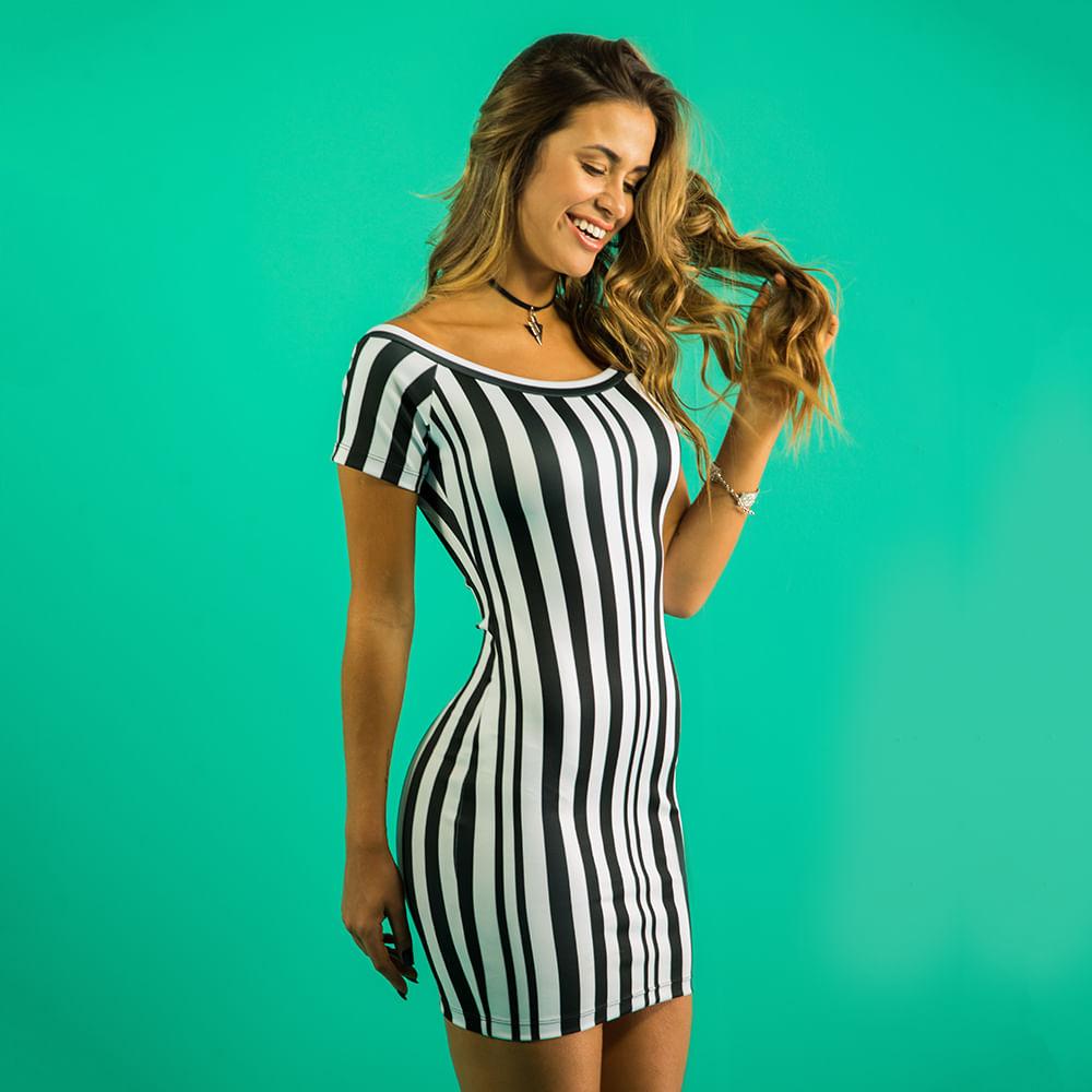 Vestido-Black-Lines