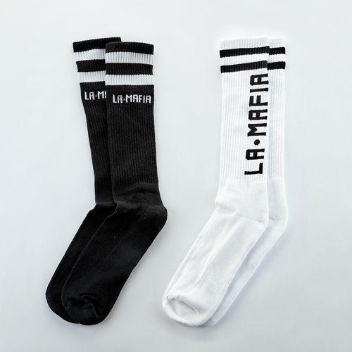 Kit-Com-Duas-Meias-La-Mafia-Black-and-White