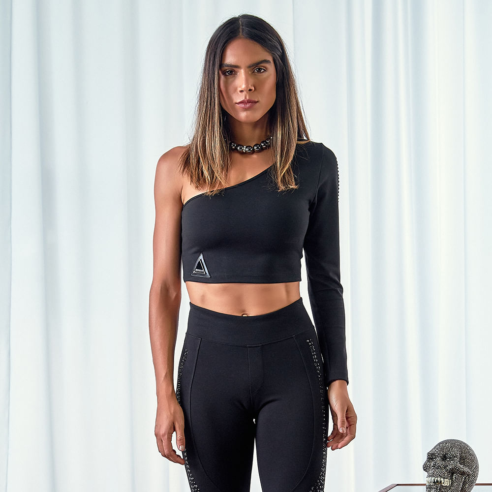Cropped Black Groove -  P