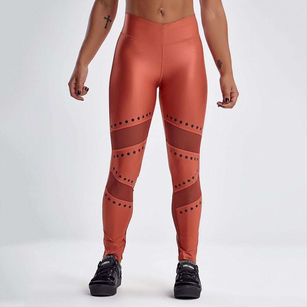 Calca-Legging-Feminina-Earthy-Tones-Glossy-Coral---P