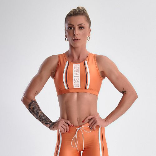 Top-Feminino-Glossy-Color-Orange---P