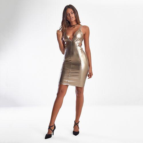 Vestido-Feminino-Metallic-Golden---P