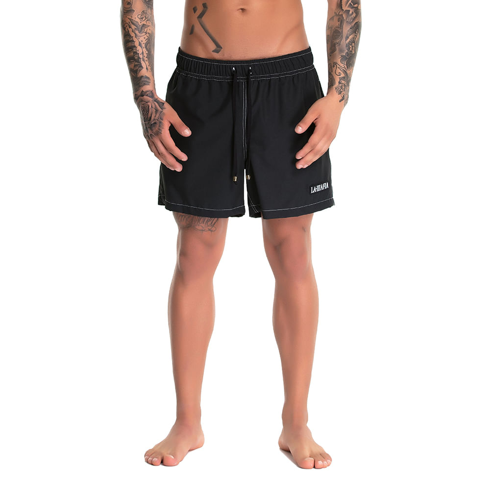 Bermuda-Beachwear-Solid-Soul-Black