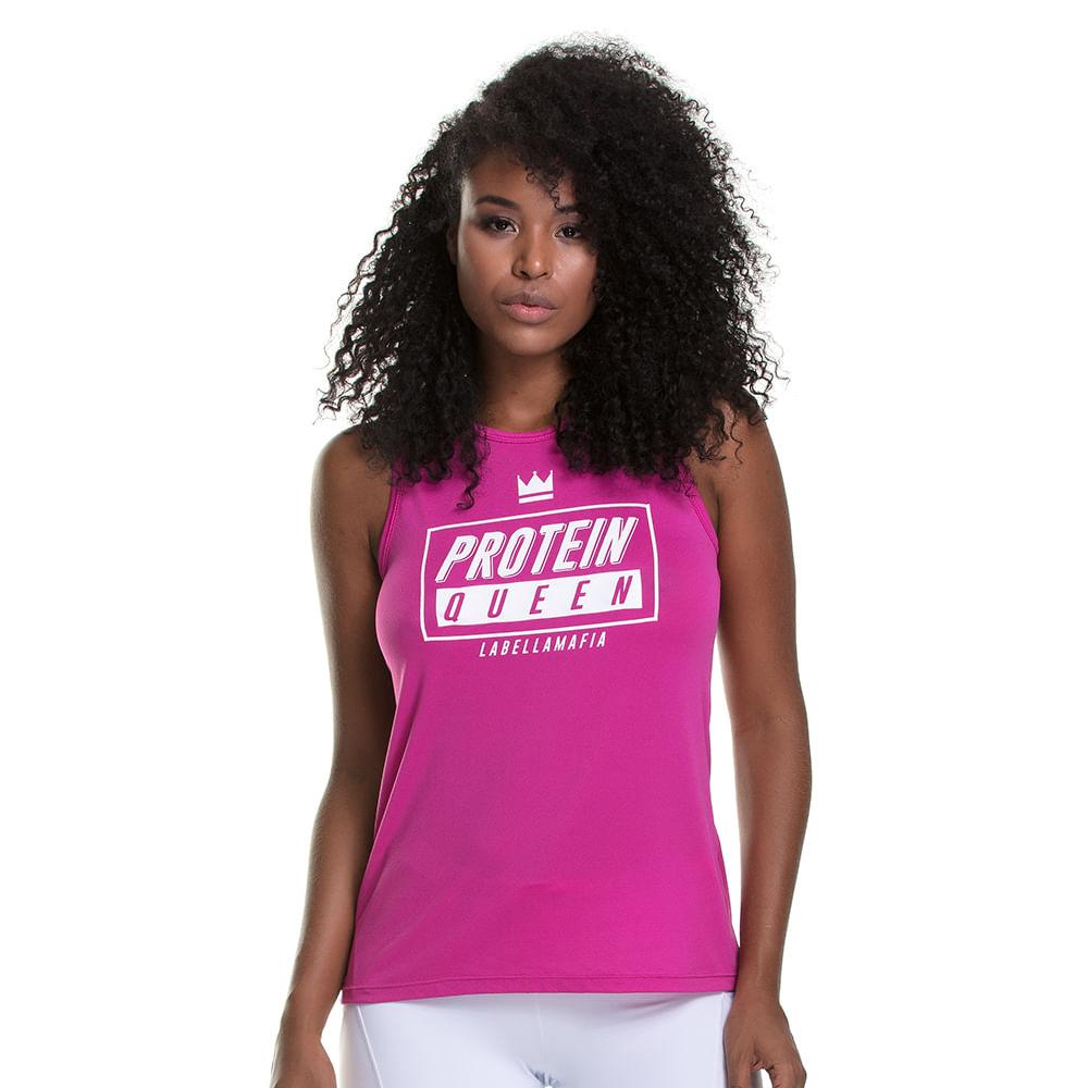 Blusa-Feminina-Graphic--Protein-Queen---P