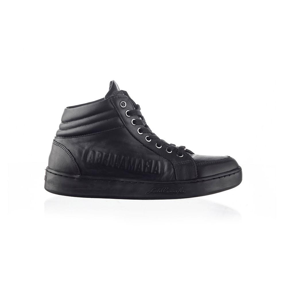 Sneaker-Labellamafia-Leather-Black
