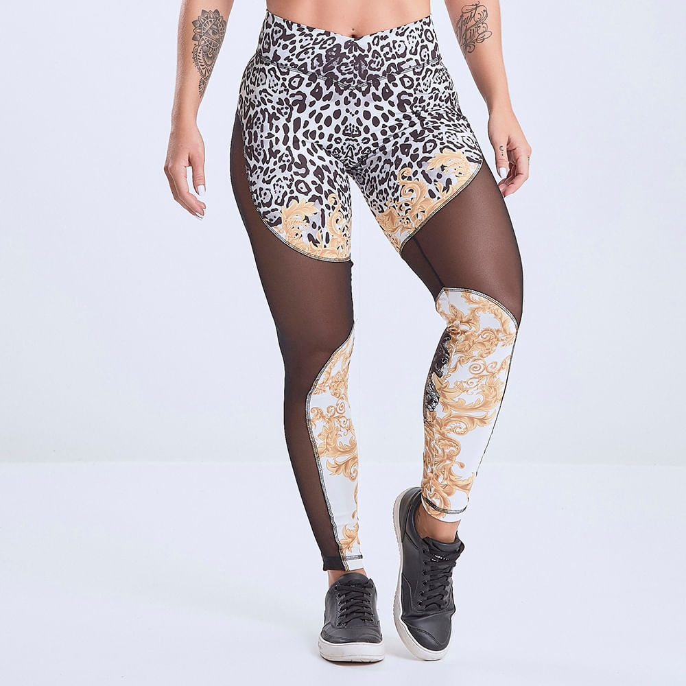 Calca-Legging-Feminina-El-Dorado-Tulle-Cutout-