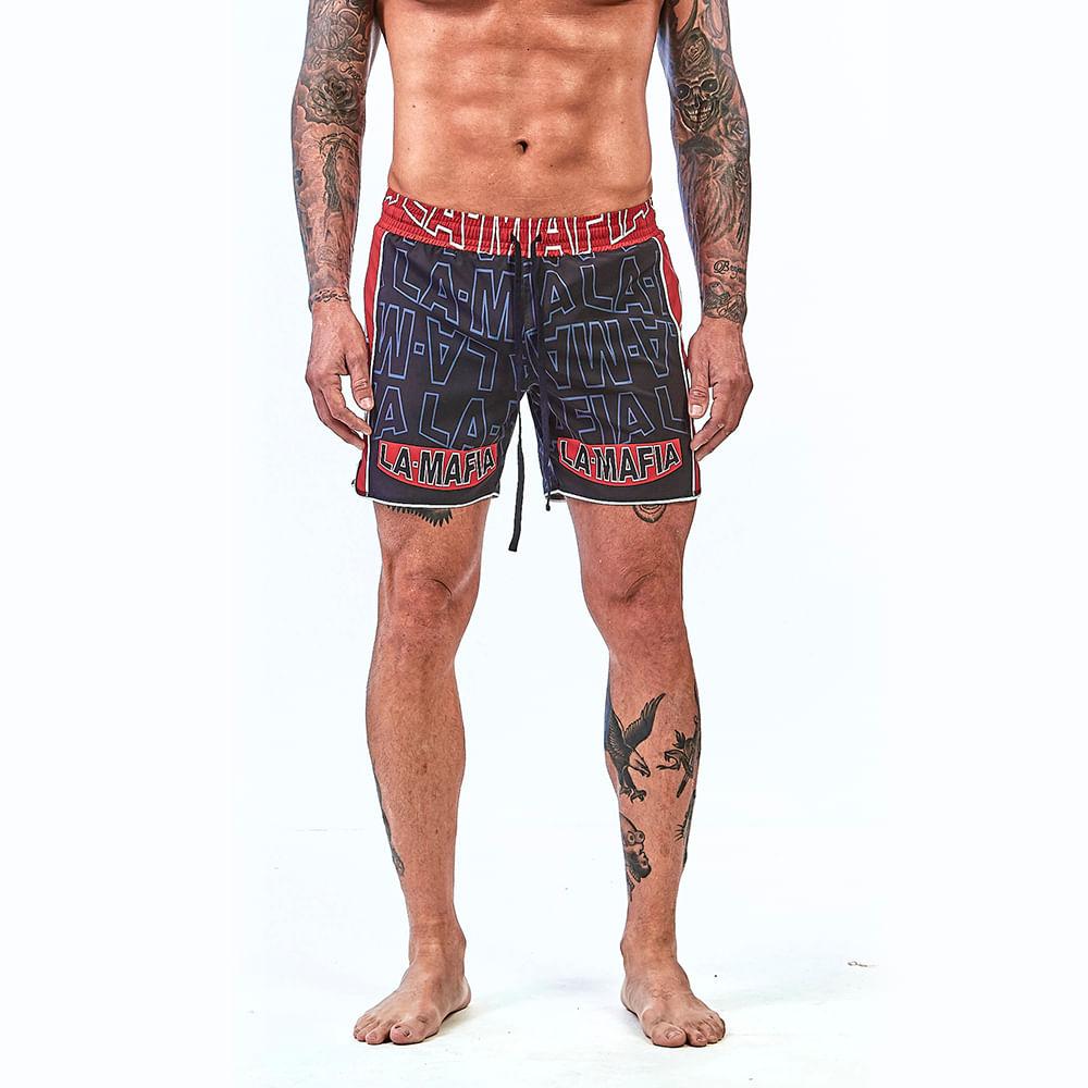 Bermuda-La-Mafia-Beachwear-Tropical-Street-Red-Details---P