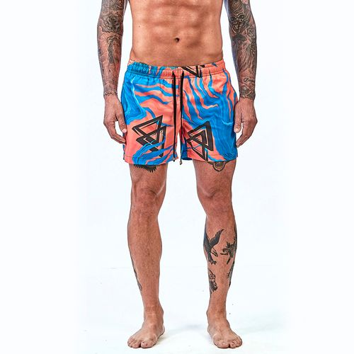 Bermuda-La-Mafia-Beachwear-Tropical-Street-Ocean-Orange---P