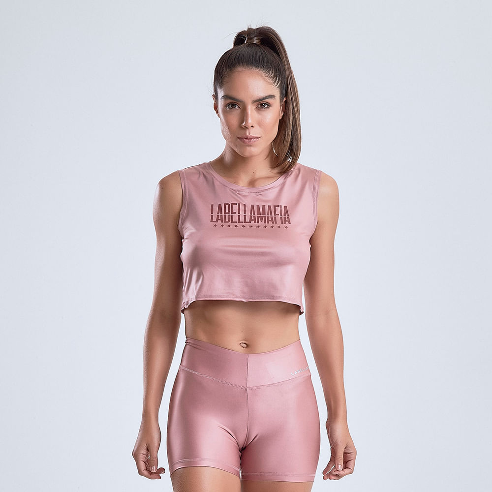 Blusa-Cropped-Feminina-Glossy-Dark-Pink-