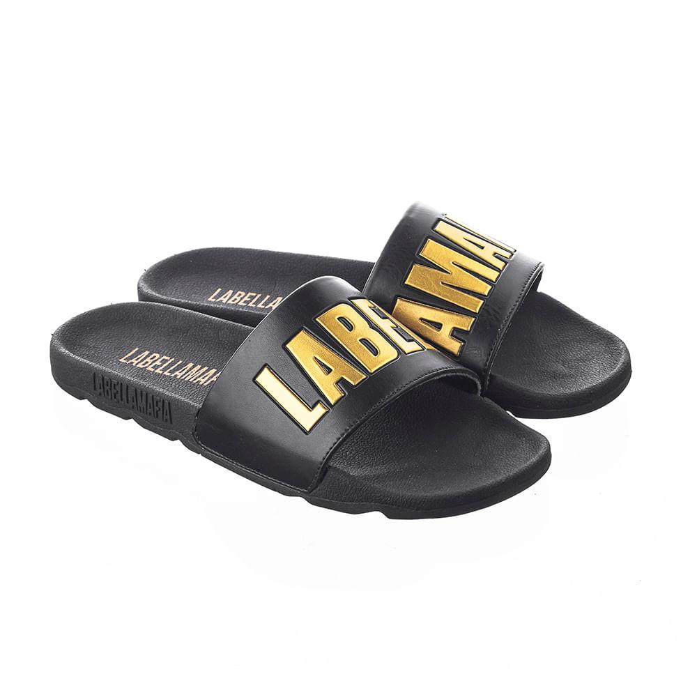 Chinelo-Slide-Labellamafia-Black-And-Gold---34