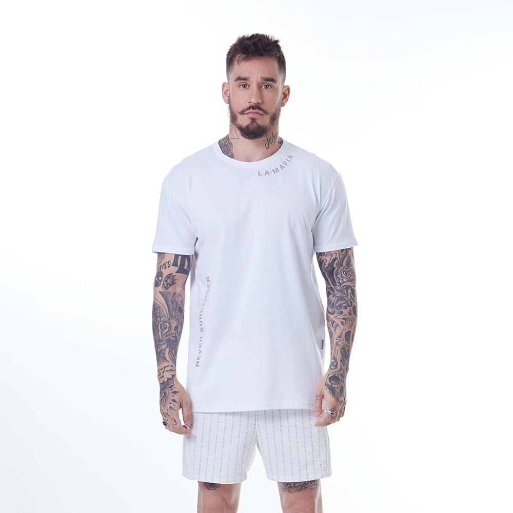 Camiseta-La-Mafia-Neon-Never-Surrender-