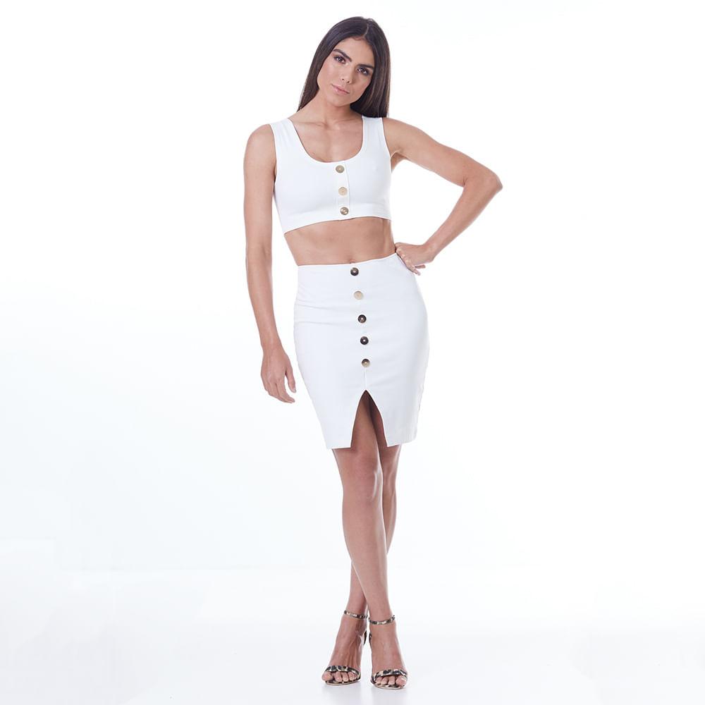 ec968ab59 Conjunto Feminino Labellamafia Off White - Labellamafia