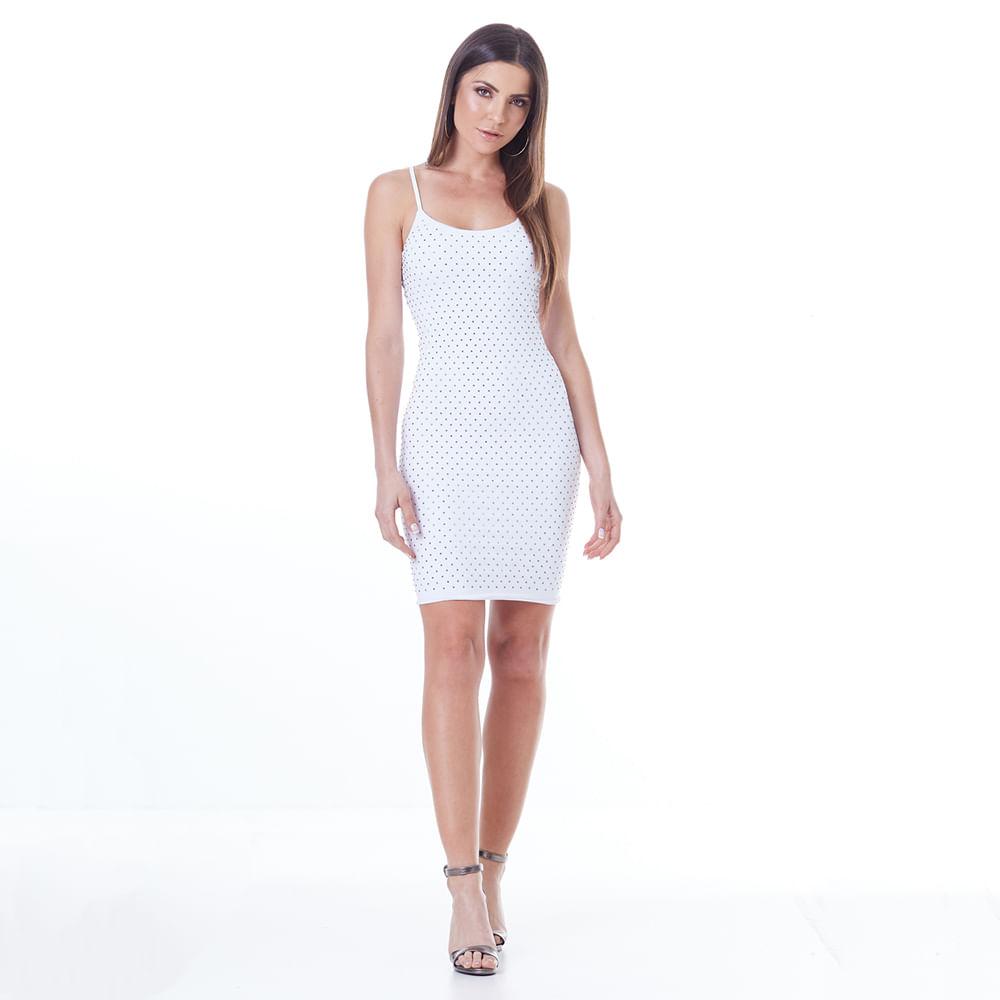 Vestido-Labellamafia-Off-White-Silver-Detail