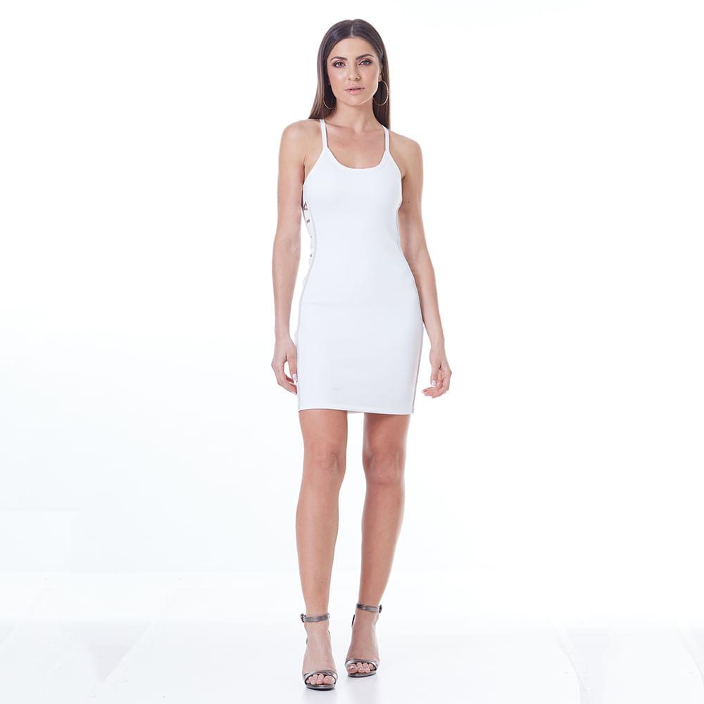 2e2ad51c4 Vestido Labellamafia Off White New Year - Labellamafia