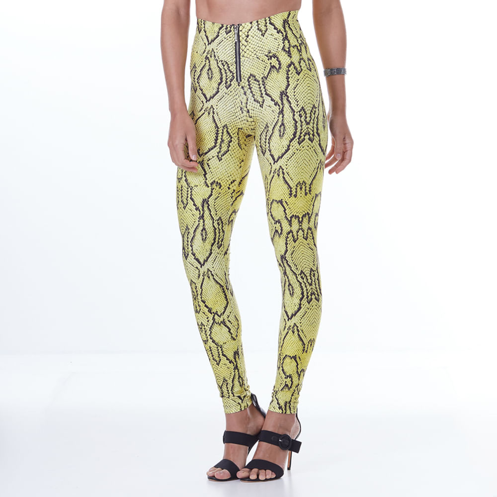 Calca-Feminina-Animal-Printed-Yellow-