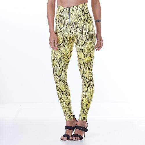 Calca-Feminina-Animal-Printed-Yellow-