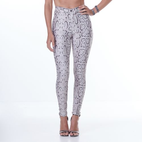 c59f4384e Calça Feminina Animal Printed White