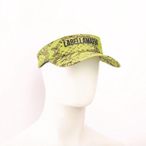Viseira-Labellamafia-Animal-Printed-Yellow