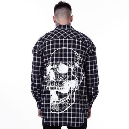 Camisa-La-Mafia-Cardinal-Skull---P