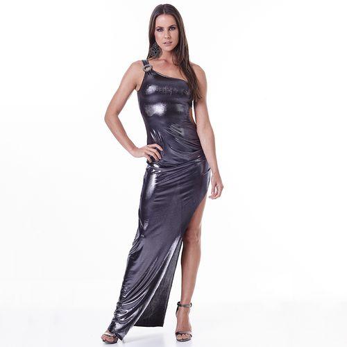 Vestido-Labellamafia-Metallic-Gray