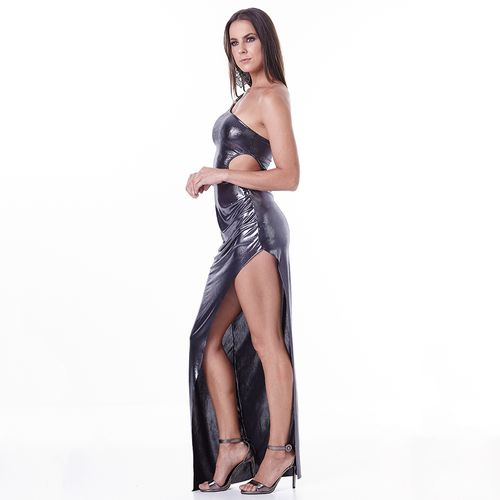 Vestido-Labellamafia-Metallic-Gray