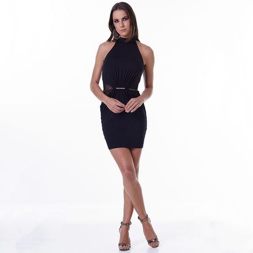 Vestido-Labellamafia-Metallic-Black