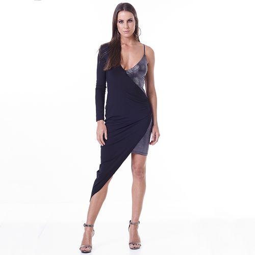 Vestido-Labellamafia-Metallic-Black-Lux-