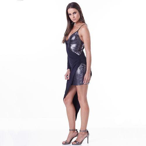 Vestido-Labellamafia-Metallic-Black-Lux-