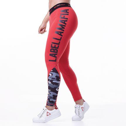 Legging-Feminina-Labellamafia-Army-Red
