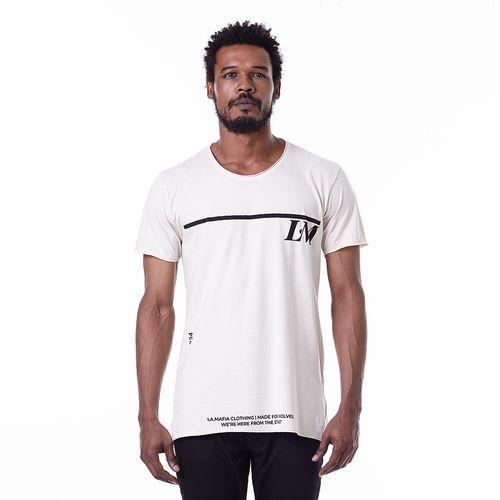 Camiseta-La-Mafia-Graphic-Tees-Beige---P