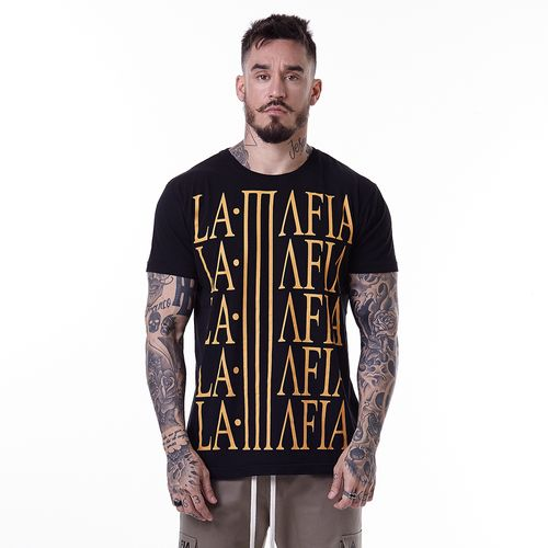 Camiseta-La-Mafia-Graphic-Tees-Yellow-Letters---P