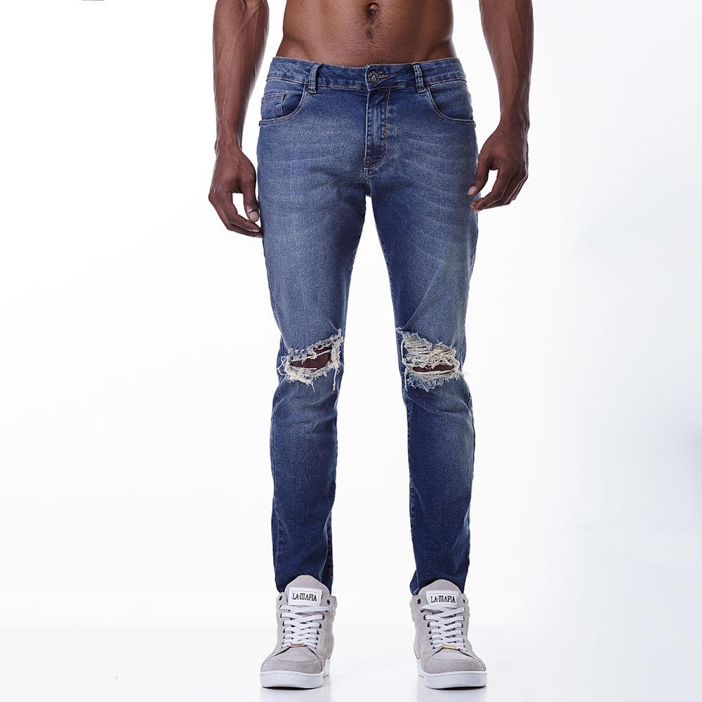a17de8b36 Calça Jeans La Mafia Destroyed Rank - Lamafia